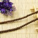 Beads, Glass, Brown , Round shape, Diameter 4mm, 40 Beads, [BHB0119]